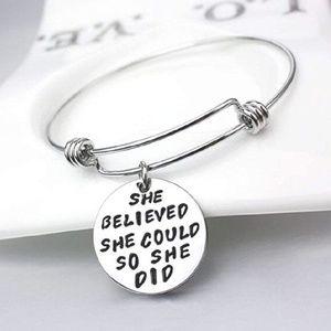 Jewelry - Inspirational, Adjustable Bracelet